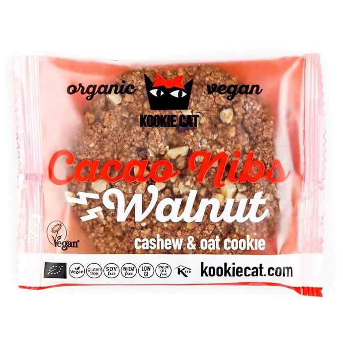 Gluten Free Cookie Cacao Nibs Walnut-ladybio organic food lebanon