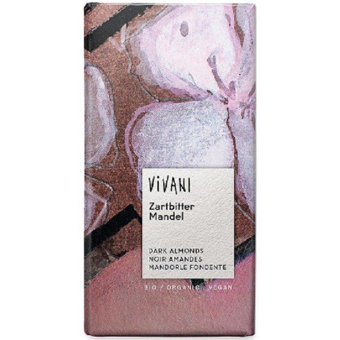 Vivani dark chocolate with almonds - ladybio organic food lebanon