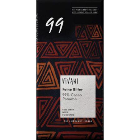 Vivani dark with 99% cacao - ladybio organic food lebanon